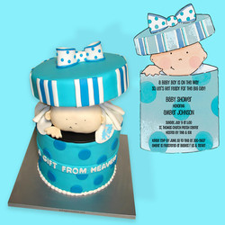 Baby In A Box Cake