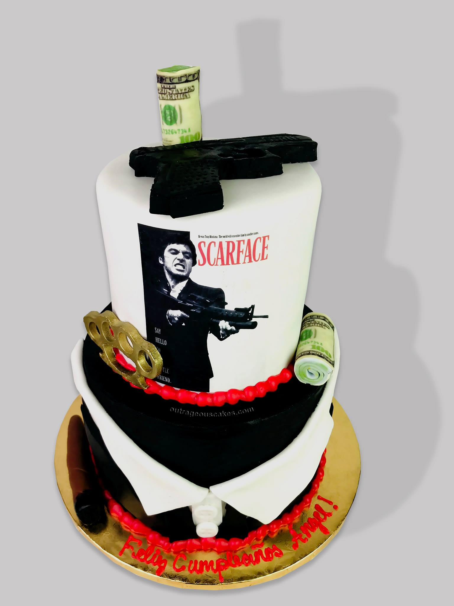 Scarface Themed Cake