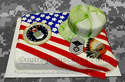 Military Retirement Sheet Cake