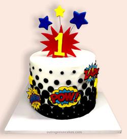 First Birthday Blast Cake