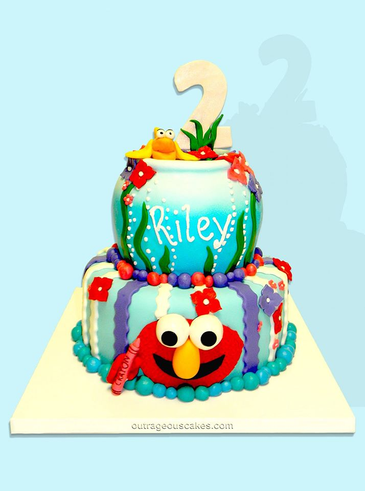 Elmo Underwater Cake