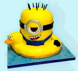 Minion In Pool Cake