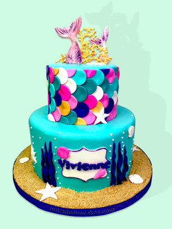 Tiered Mermaid Cake
