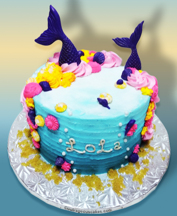 Mermaid Cake - Outrageous Cakes Tampa Ba