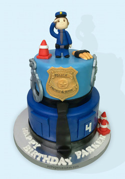 Tiered Kid's Police Cake