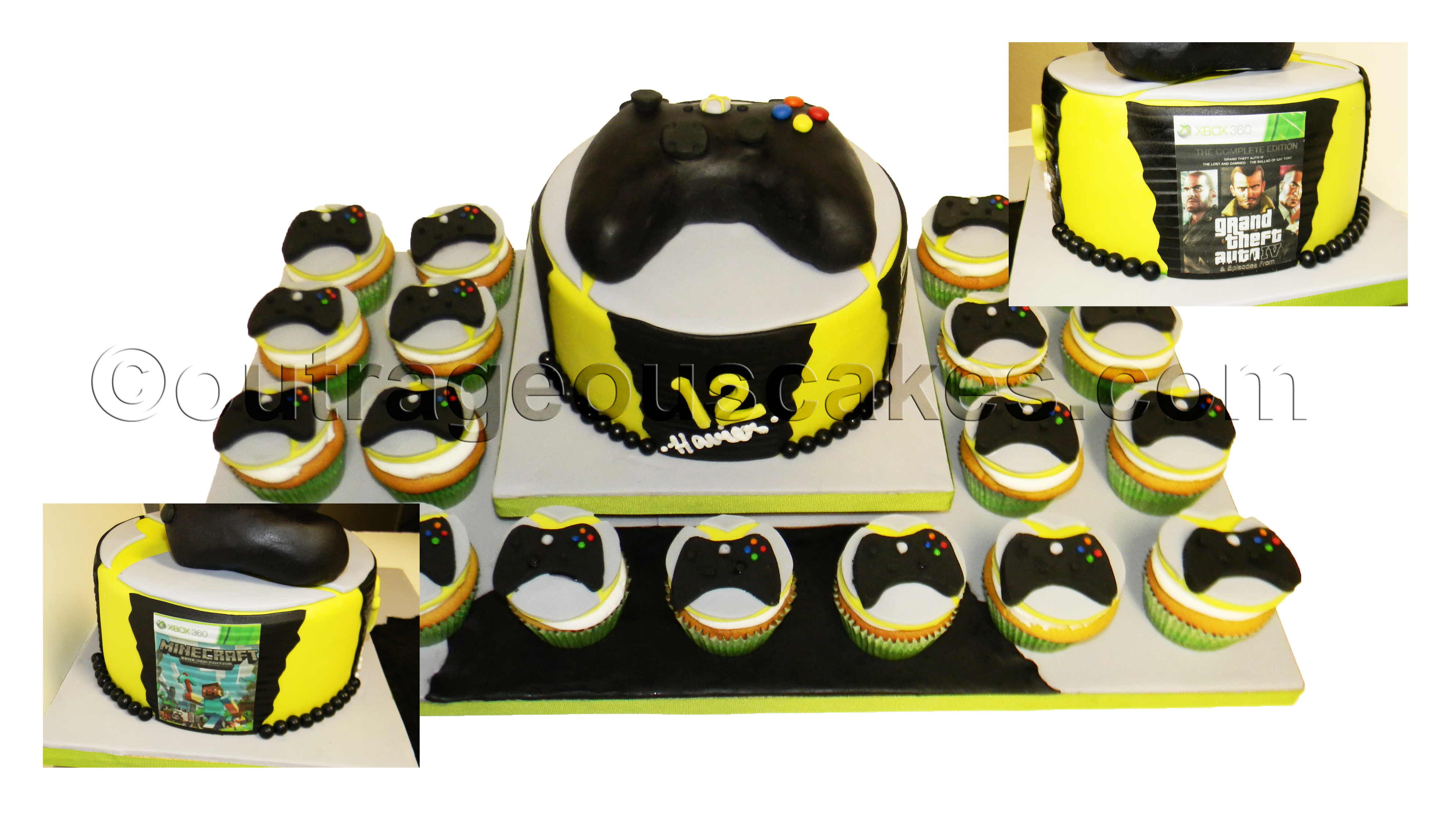 Video Game Controller Cake aCupcakes
