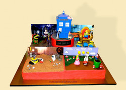 Multi Scene Video Game Cake