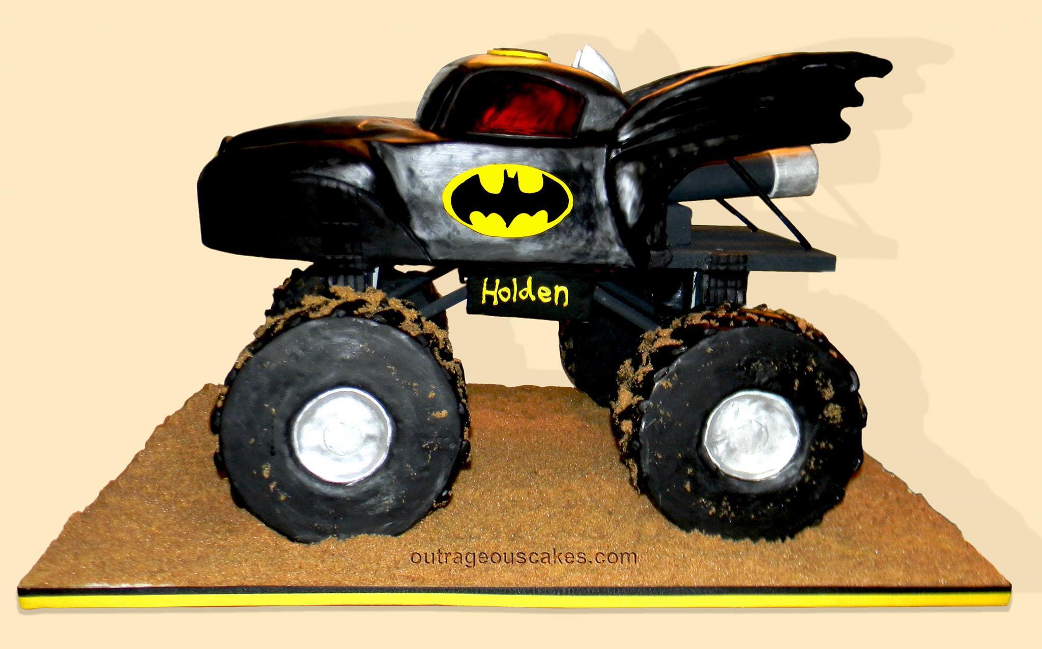 Batman Monster Truck Cake