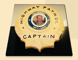 Florida State Trooper's Badge Cake