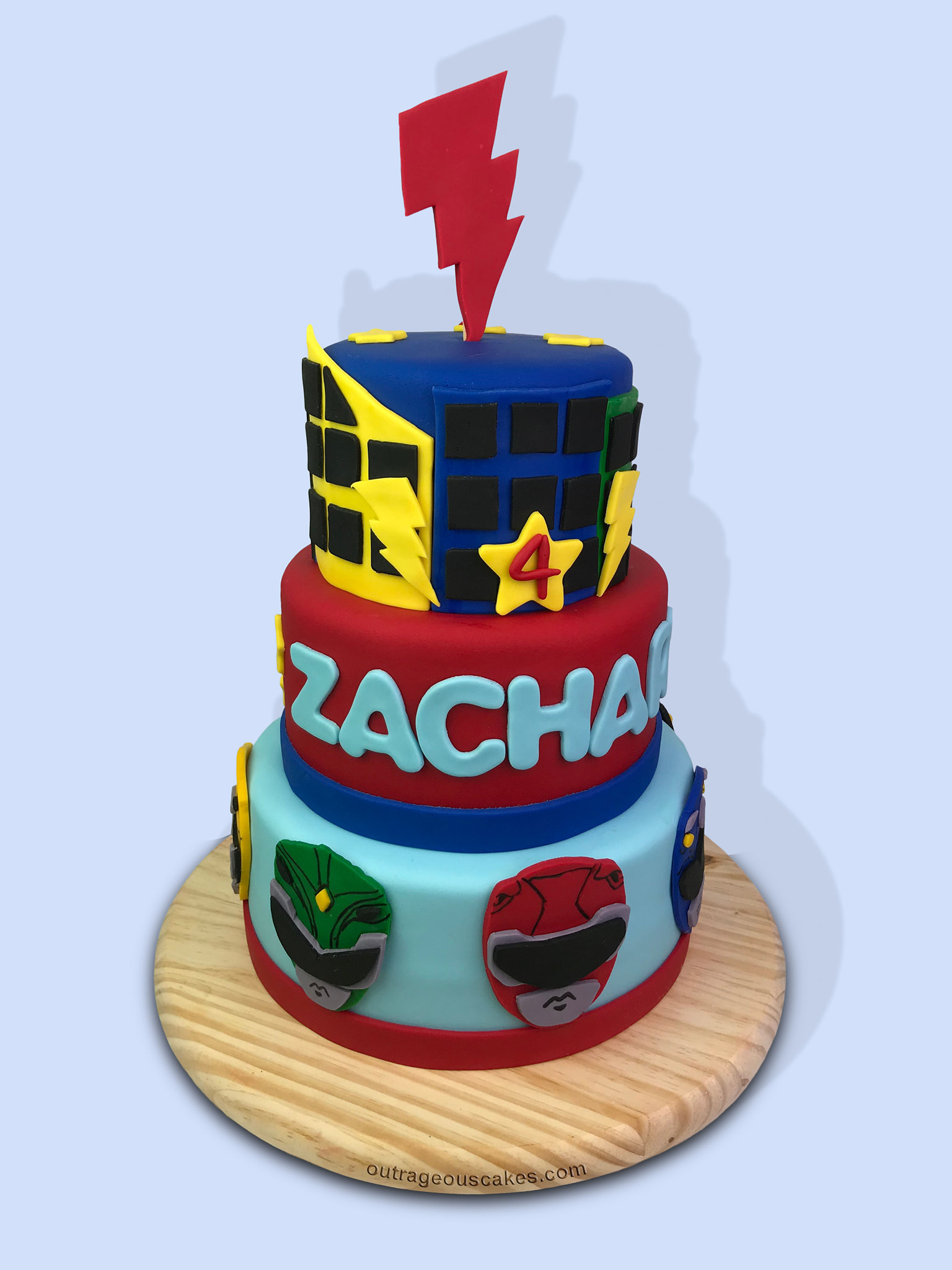 Power Rangers Themed Cake