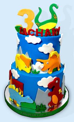 Tiered Dino Cake