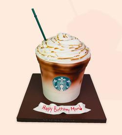 Oversized Starbucks Drink Cake