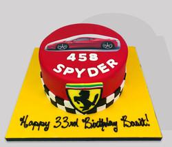 Ferrari Themed Cake