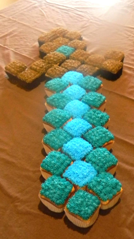 Minecraft Sword Cupcakes