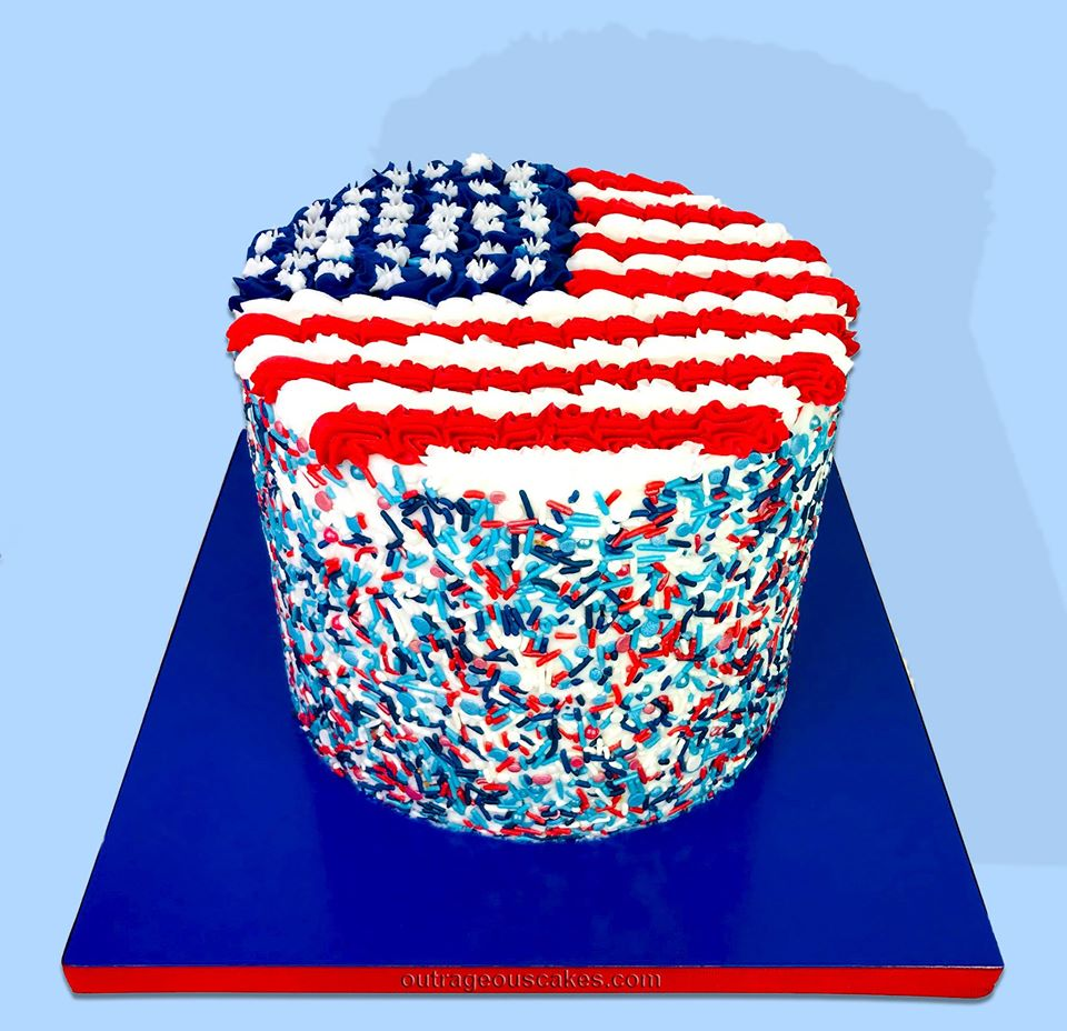 Forth of July Sprinkle Cake