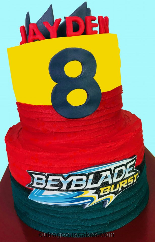 Bayblade Inspired Cake
