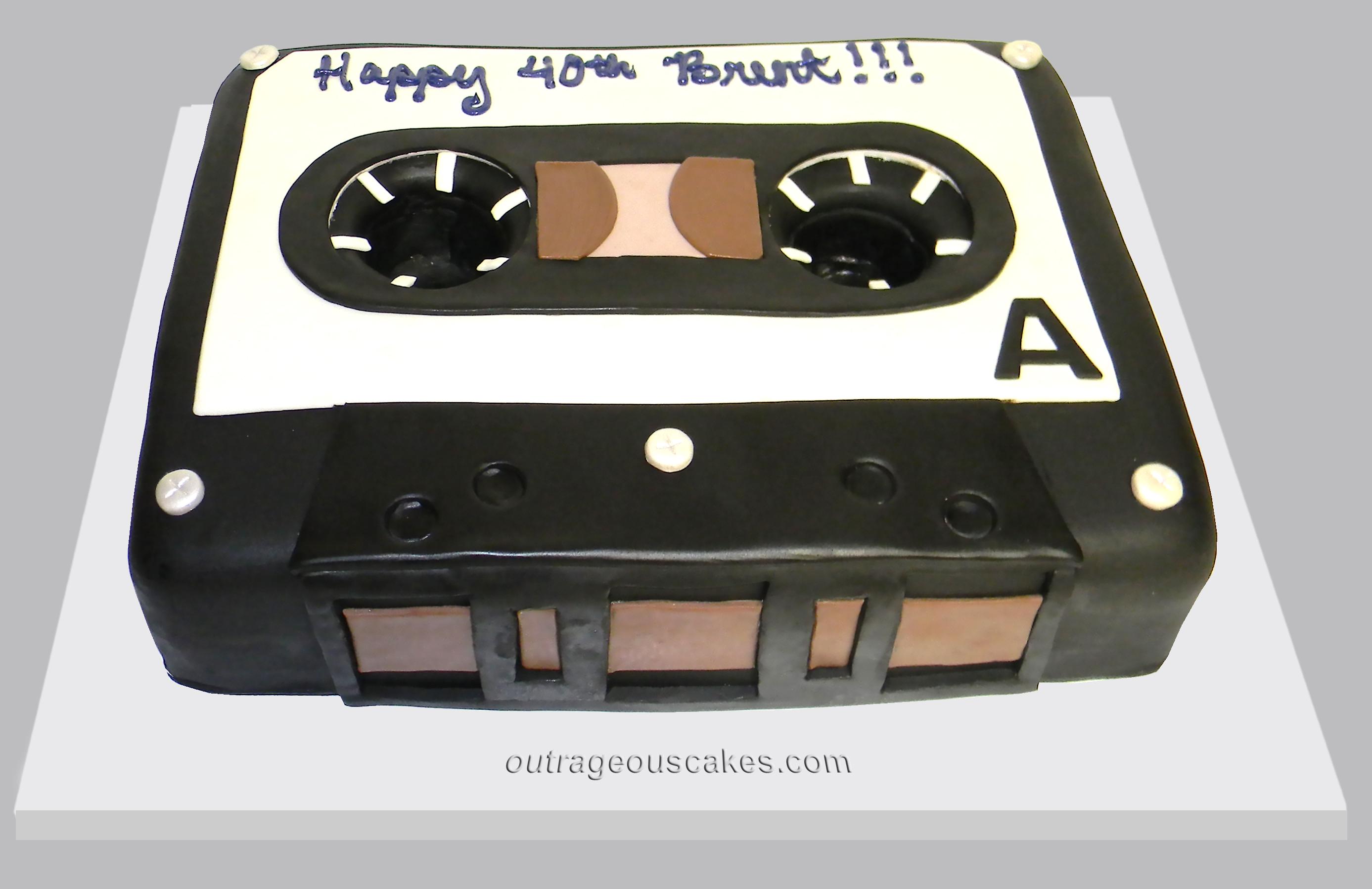 Cassette Tape Cake