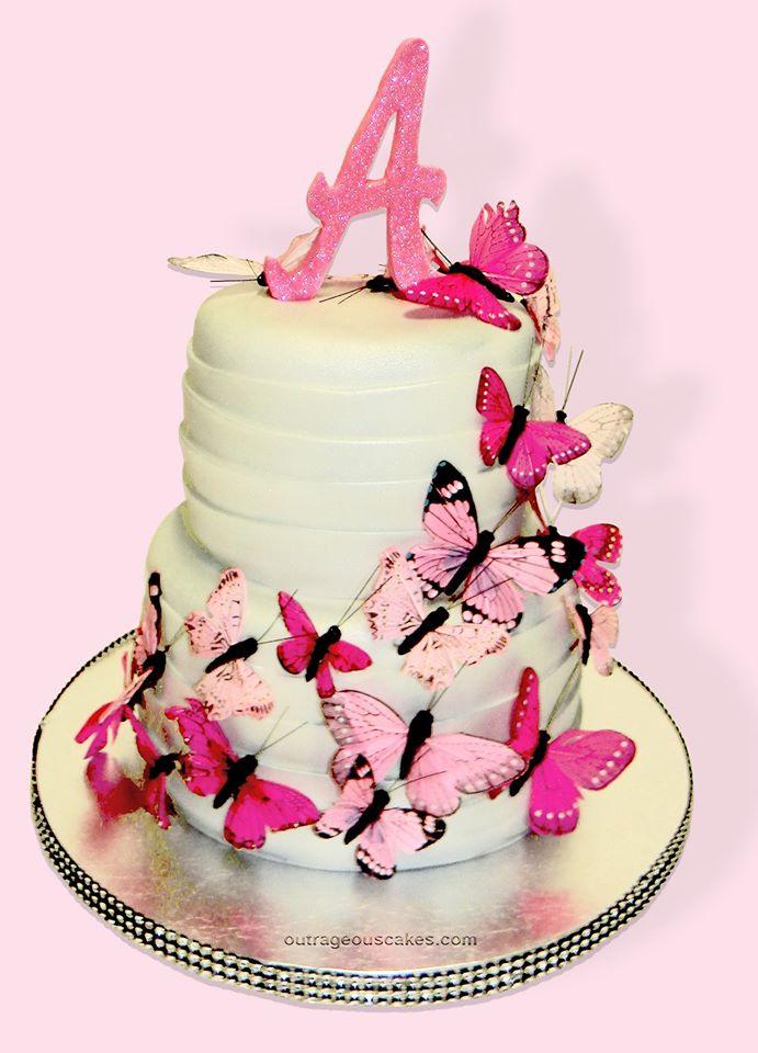 Cascading Butterfly Cake