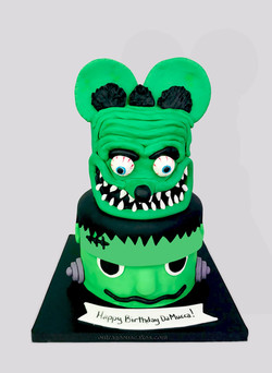 Frankenstein and Rat Fink Cake