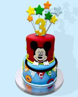 2 Tiered Mickey Mouse Cake