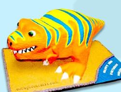 Cartoon Style Dino Cake