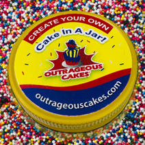 """8 oz """"Create Your Own"""" Cake In A Jar"""