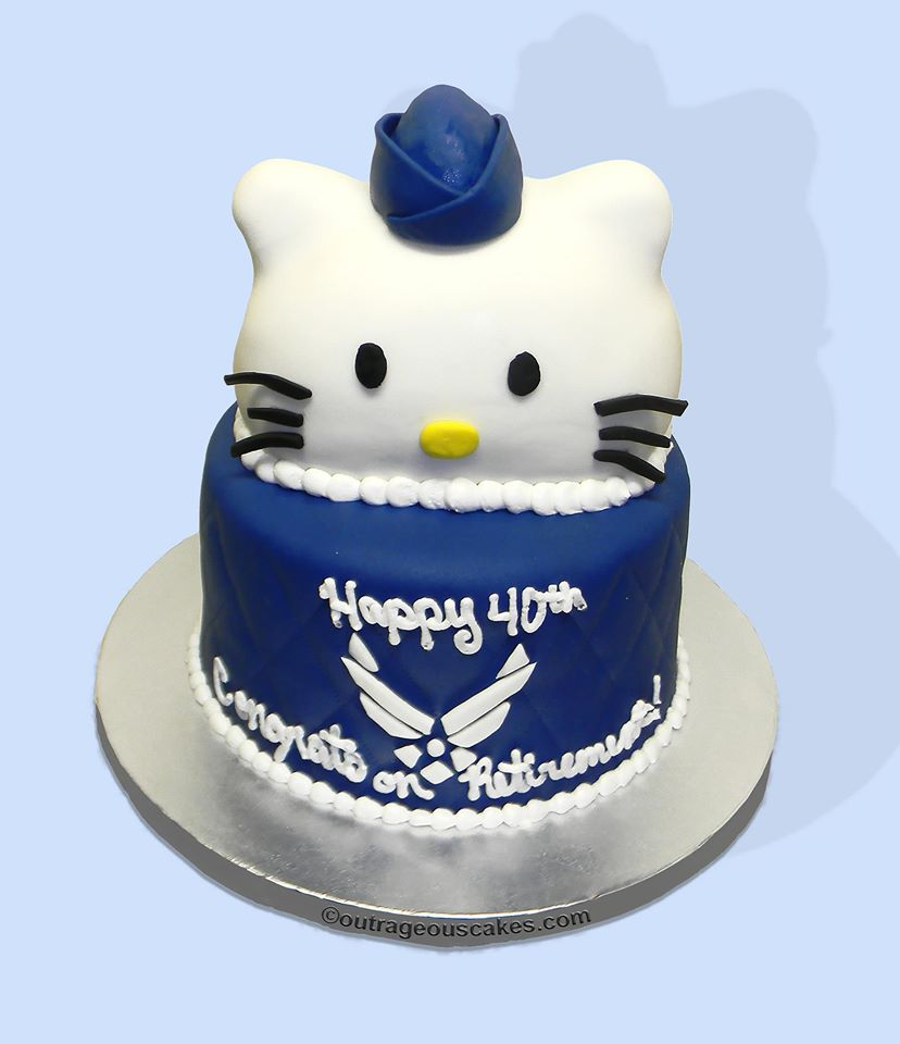 Hello Kitty Ait Force Cake