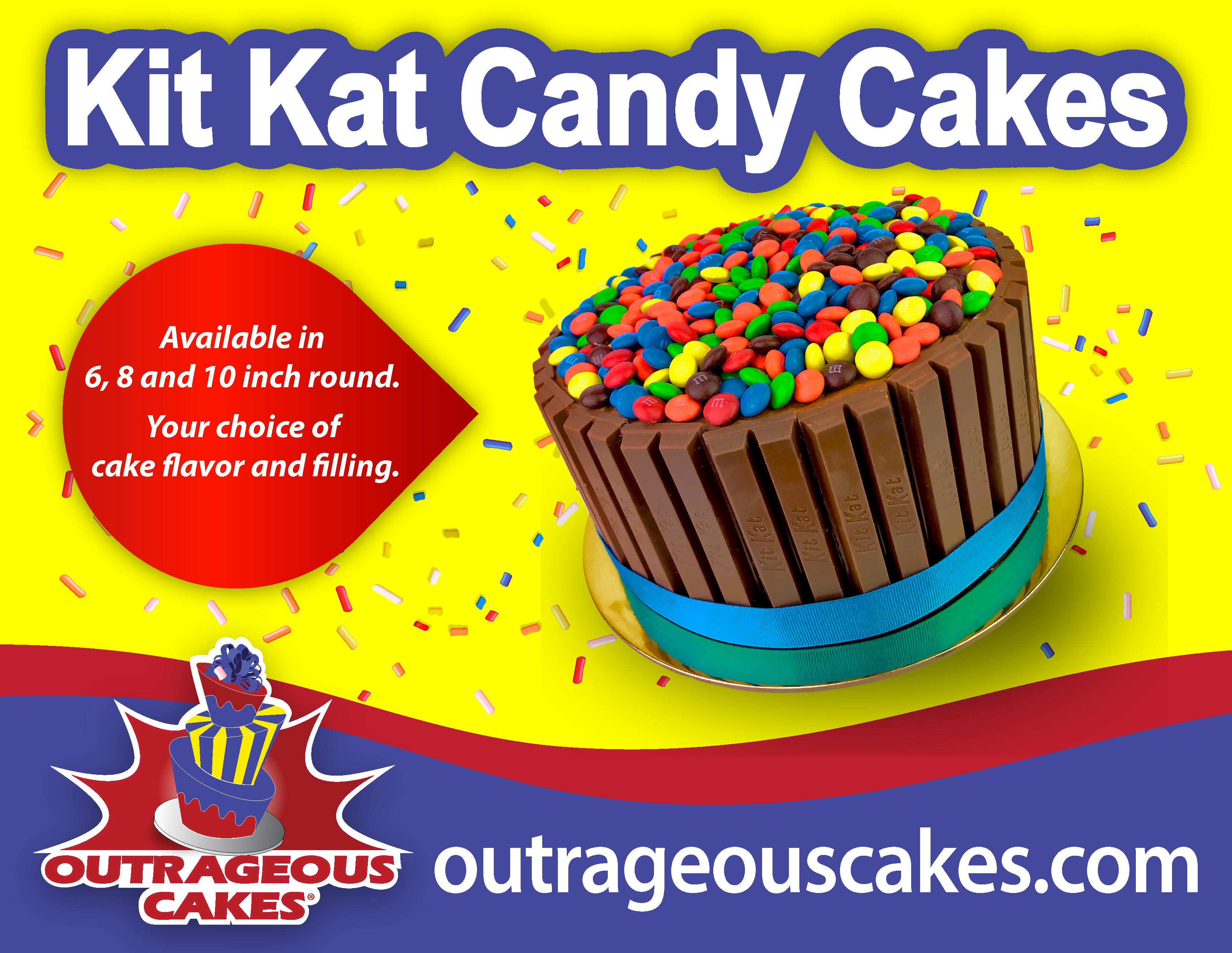 kit kat candy cakes