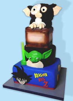 Gremlin / Yoda Themed Cake