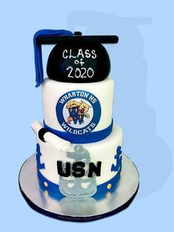 Navy Grad Cake
