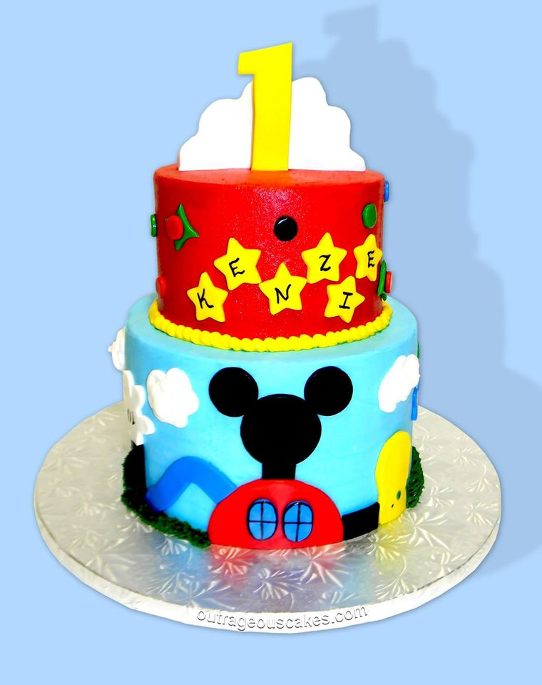 Mickey's First Birthday Cake