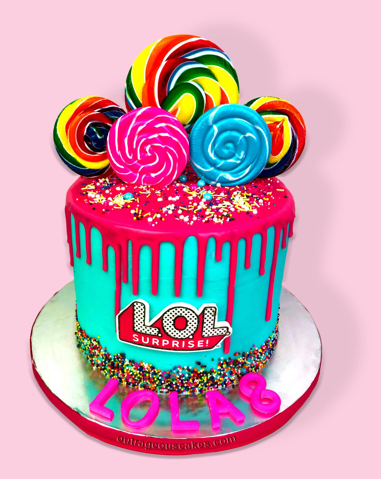 Candy Drip LOL Cake