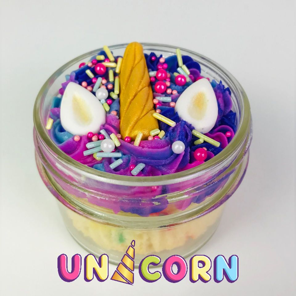 4 oz Unicorn Cupcake In A Jar