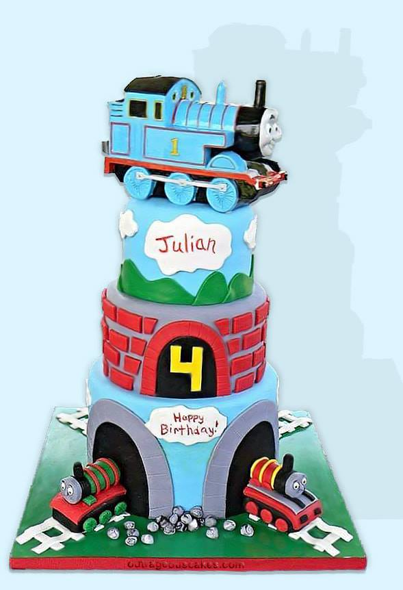 Thomas The Train Tiered Cake