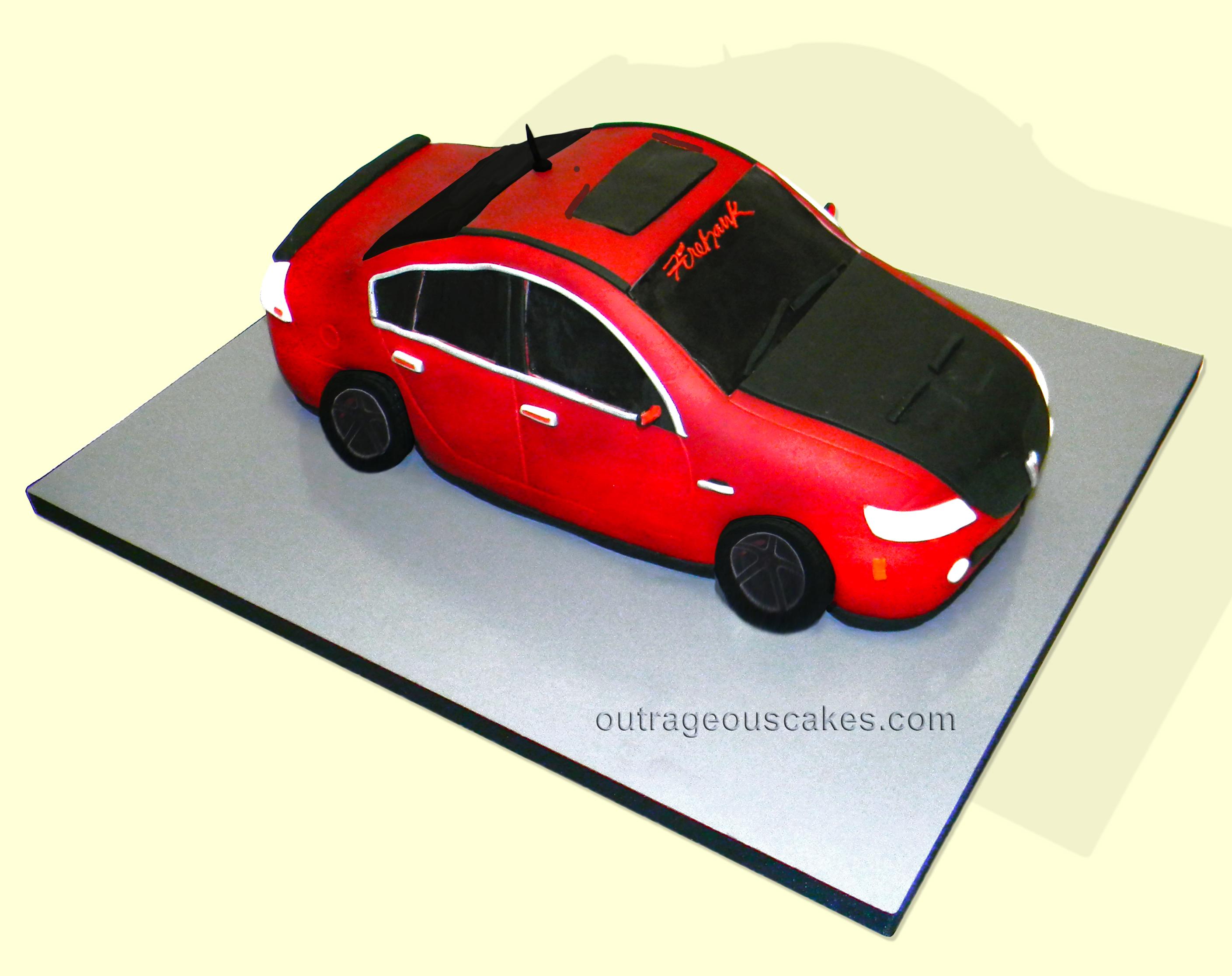 Pontiac Car Cake