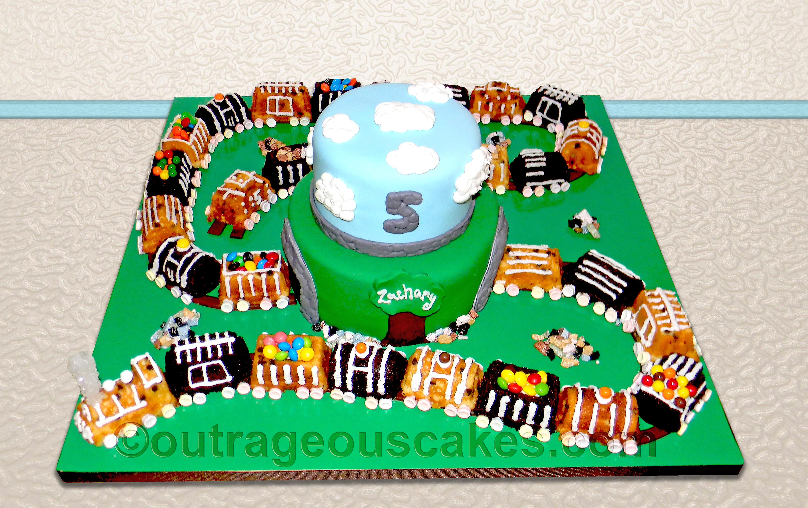 Mini Train Cakes
