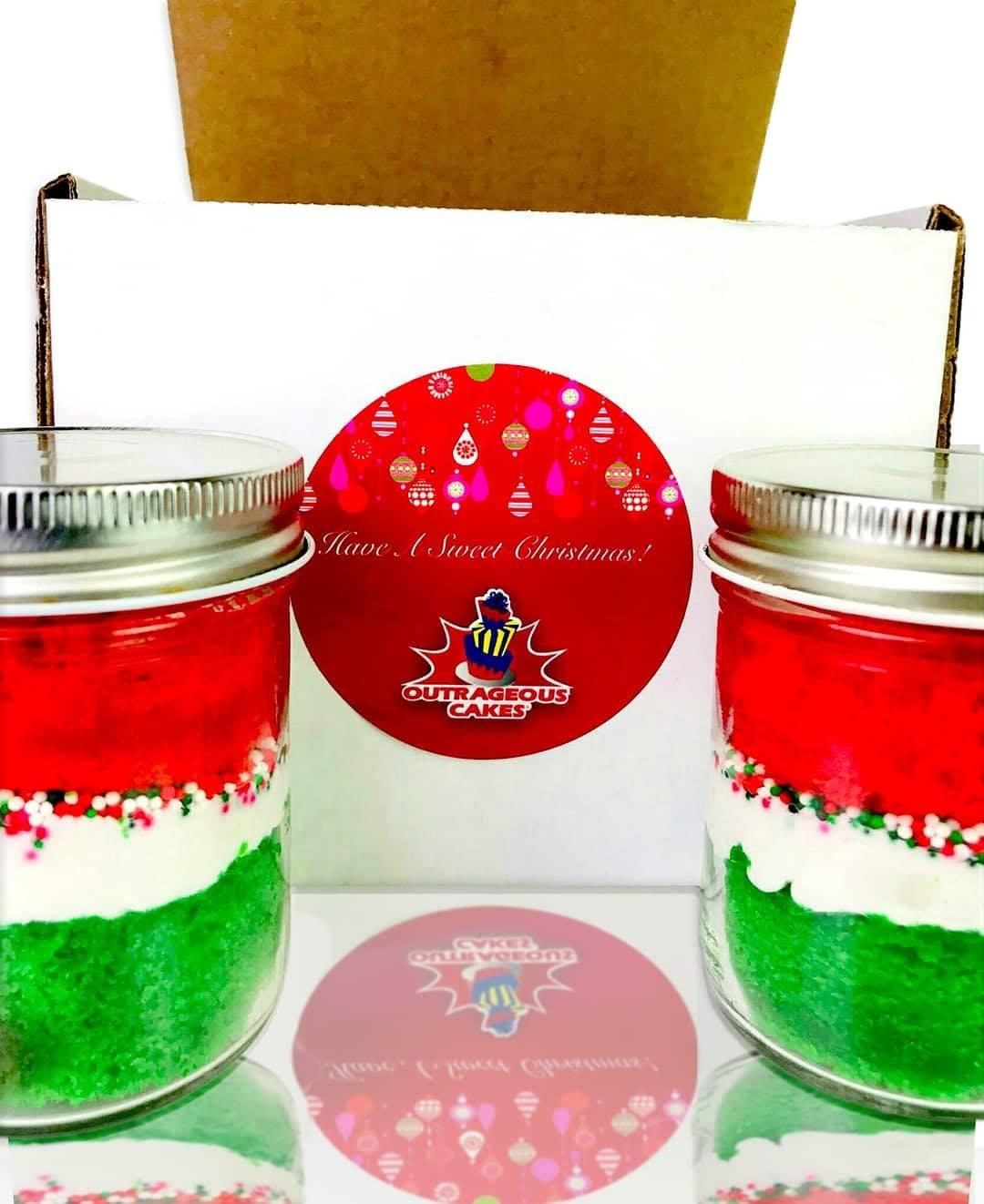 Christmas Cake Jars