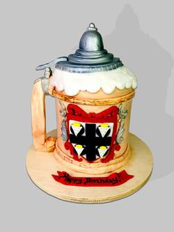 German Beer Stein Cake