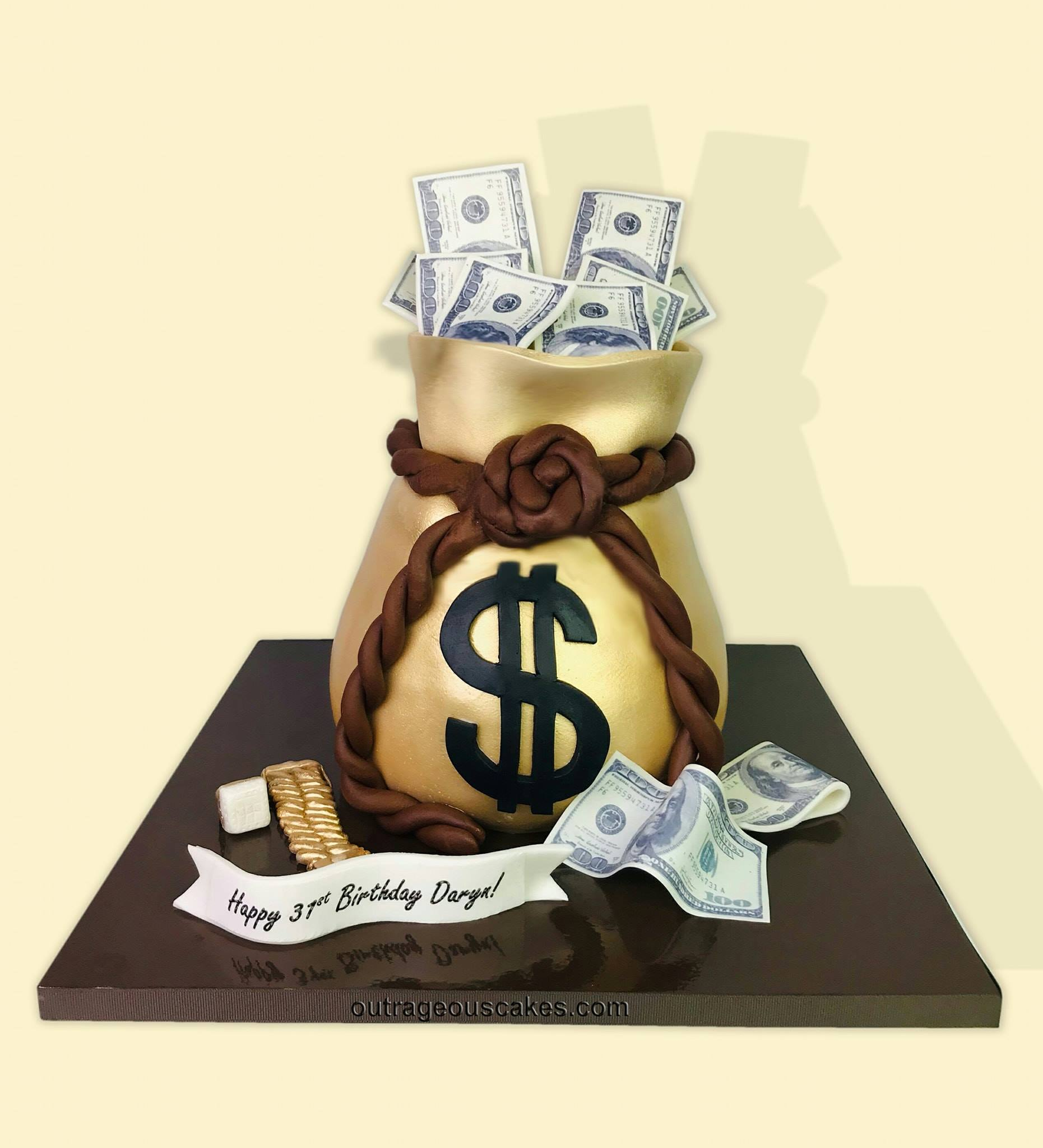 Money Bag Cake.