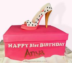 Designer Shoe Cake