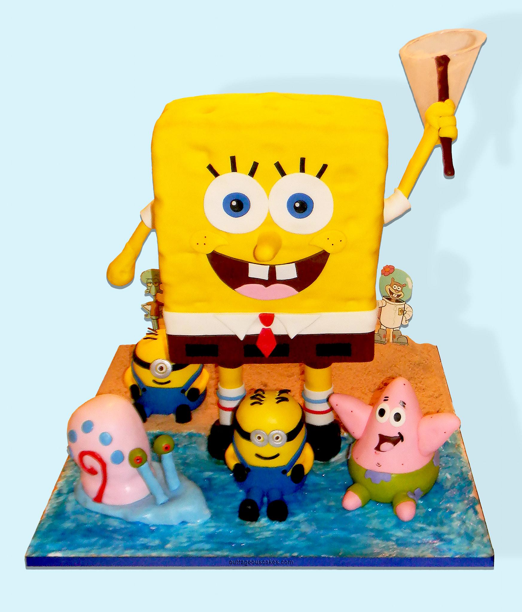 SpongeBob & Friends Cake
