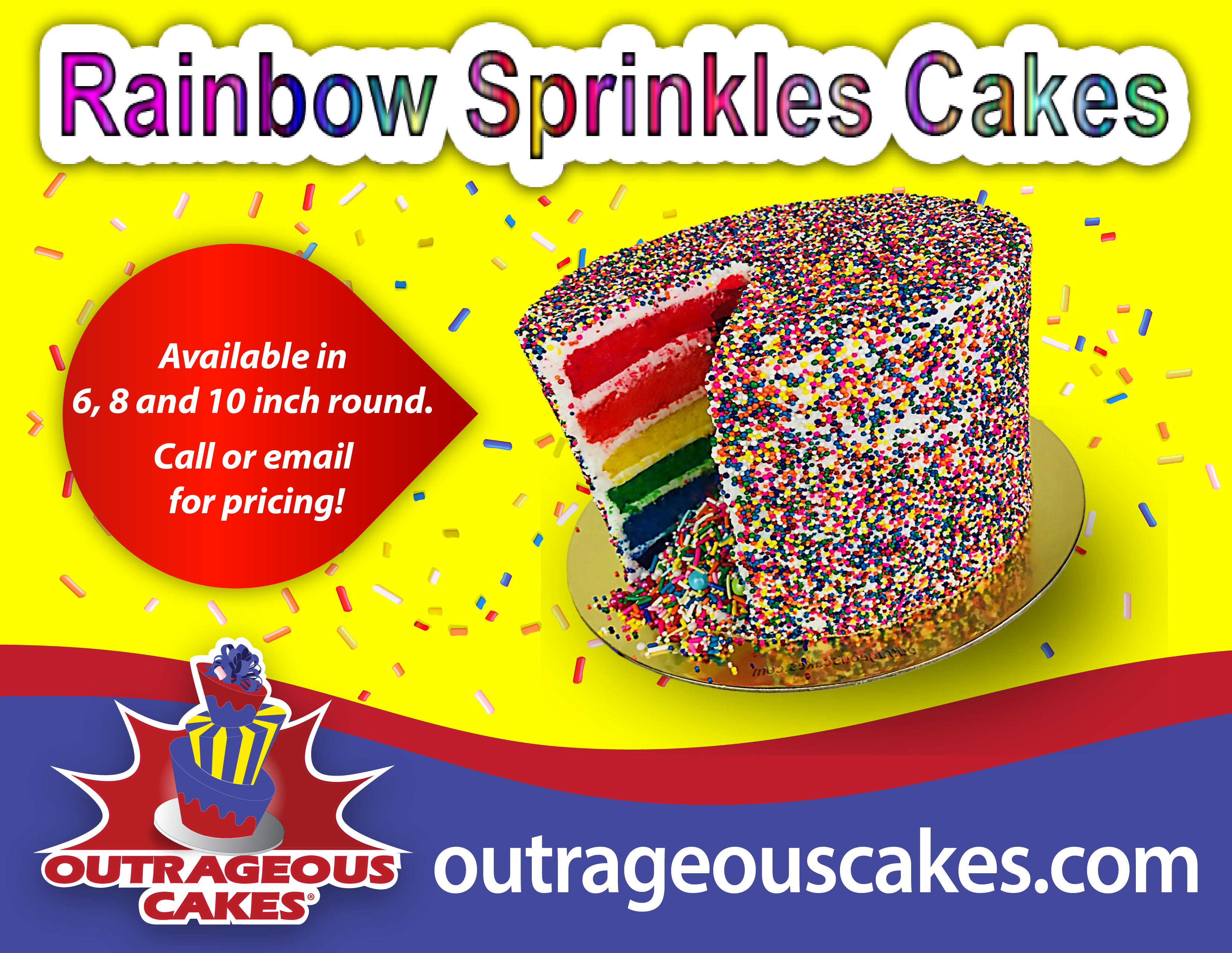 Rainbow Sprinkles Cakes