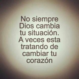 ¡¡Cámbianos Señor es mi oración!!