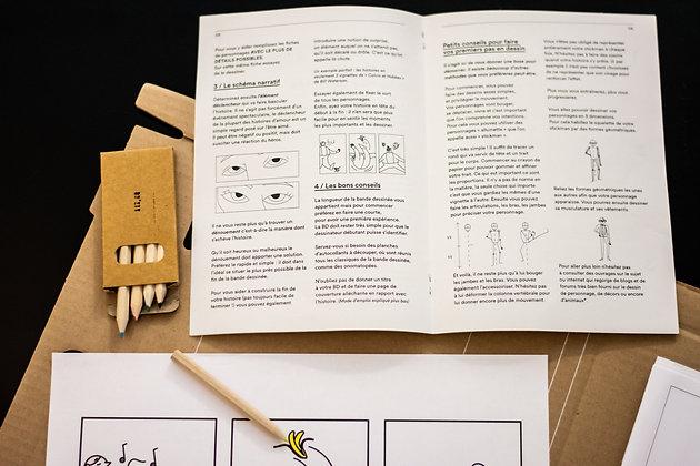 fourniture du kit créatif DIY Bande dessiné à réaliser soit même de la marque Bo'kit
