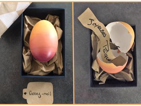 Tuto vidéo œuf de Pâques