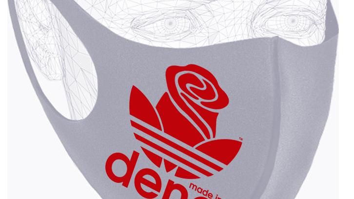 """""""MADE IN DENA"""" Adirose Red Logo Grey Mask"""