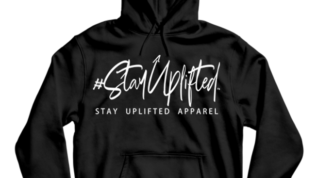 "Black ""StayUplifted"" Hashtag Hoodie by Stay Uplifted Apparel"