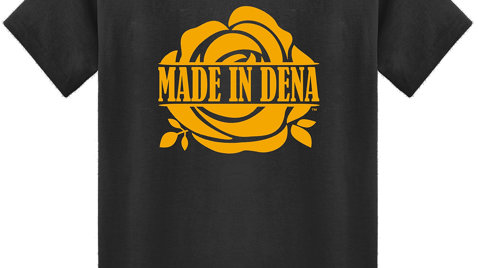 """MADE IN DENA"" Gold Logo Tee"
