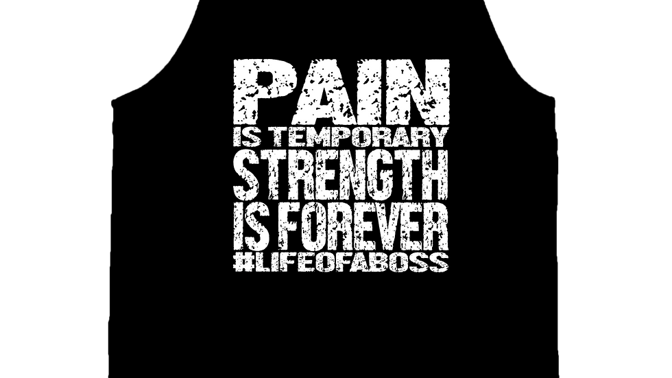 """PAIN IS TEMPORARY"" LifeOfABoss Black Tank Top"