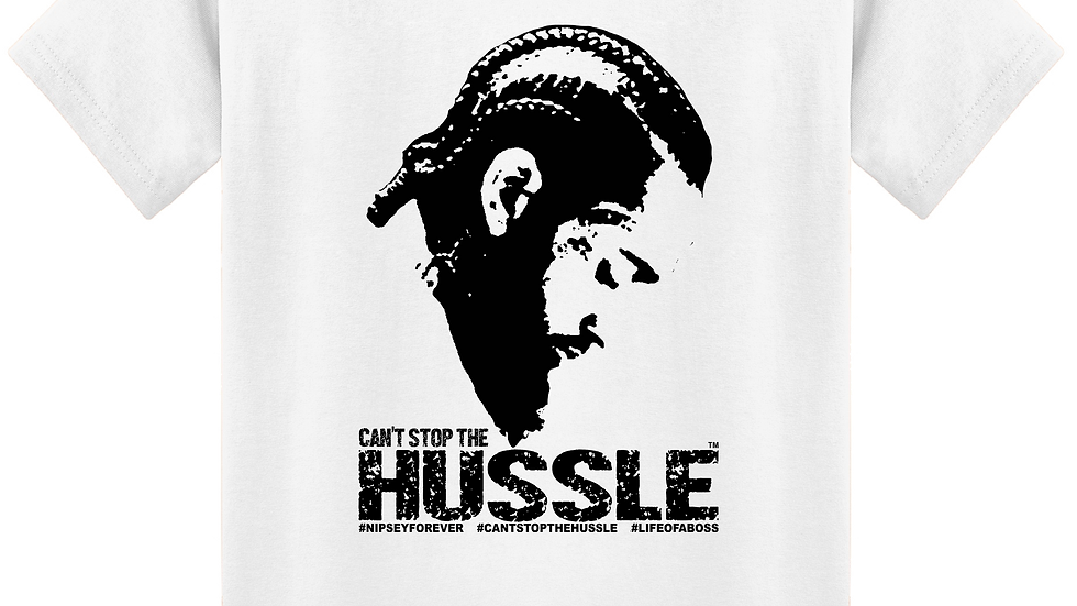 """CAN'T STOP THE HUSSLE"" Nipsey Tribute LifeOfABoss Tee"